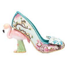 Irregular Choice Blushing Bird Blue Pink Flamingo Novelty Designer Wedding  Shoes 88a70d8a0ae8