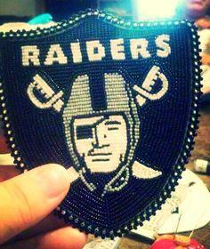 Oakland Raiders Panel Bead Pattern Sports Beading