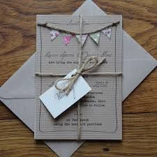 wedding invitations - I love the bunting and the rope