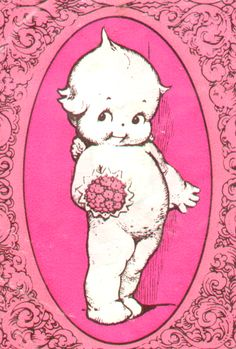 kewpie- I had a kewpie doll when I was little. Loved my kewpie. Posca Art, Illustration Art, Illustrations, Hippie Art, Creepy Cute, Aesthetic Art, Vintage Cards, Vintage Postcards, Wall Collage