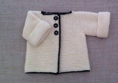 My first finished baby garment for a friend's first grandchild :)