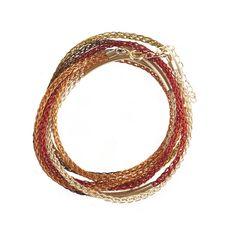 AUTUMN colors BOHO Wire crochet bracelet