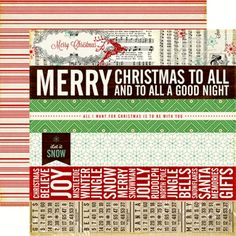 Echo Park - Reflections Collection - Christmas - 12 x 12 Double Sided Paper - Border Strips