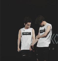 xiumin and baekhyun comparing muscles - Google Search