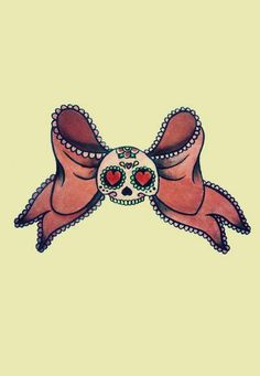 OMGoshhhh! I love it! sugar skull tattoo | Tumblr (actually, I hate bows, but I like the little sugar skull - Nichole)
