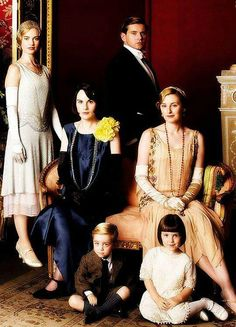 Rose, Mary, Tom, Edith, George, and Sybbie