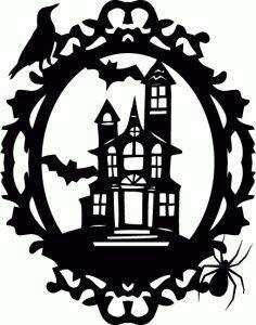 Halloween House Silhouette