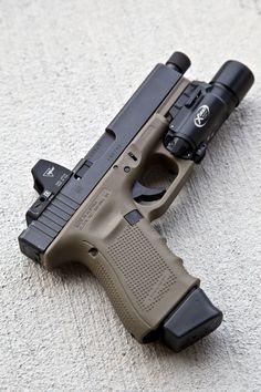 tacticallurk: FDE Glock 19 Gen 4 + Trijicon RMR + Surefire...
