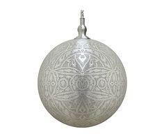Hanglamp Sahar, mat zilver, Ø 50 cm