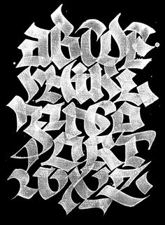 ✍ Sensual Calligraphy Scripts ✍  initials, typography styles and calligraphic art -  ABC-book byJulien Priez