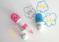 These Kawaii Multicoloured Retractable Ballpoint Pills make fun stocking stuffer gifts for kids and teens!