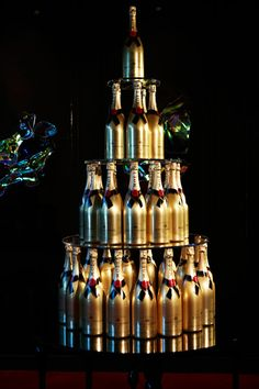 Moet & Chandon tower display