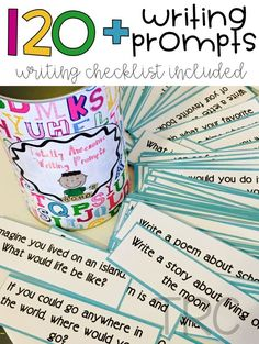 "Do your students struggle to come up with writing prompts? Erase the ""I don't have anything to write about"" with these easy to print writing prompts! Print them out, put them in a jar, and have them available for students. You can put them in a writi Writing Prompts For Kids, Writing Strategies, Writing Lessons, Writing Resources, Teaching Writing, Writing Skills, Writing Activities, Writing Centers, Writing Ideas"