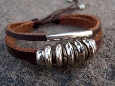 Leather Bracelet by CrisC