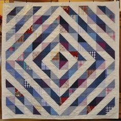 Quilt made from jeans and dress shirts. Custom Memory Quilts - Memory Quilts from Clothing CustomMemoryQuilts.com