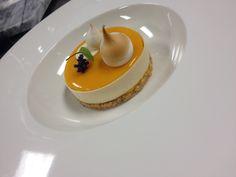 Chef Nicolas Jardin:Hazenut Streusel, Pineapple Rosemary Compote, Mango Mousse, White Chocolate Deco, Mango Cremeux and Meringue