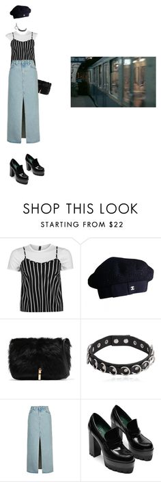 """""""lps90909"""" by miiuyo ❤ liked on Polyvore featuring Chanel, Elizabeth and James, Yves Saint Laurent, Topshop and Sophie Buhai"""