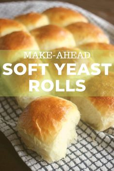 These easy soft yeast rolls can be made ahead and refrigerated until you are ready to bake and serve This recipe result in tender fluffy chewy and buttery rolls easy enough for any day of the week and special enough for holiday gatherings Yeast Dinner Rolls Recipe, Soft Rolls Recipe, Dinner Rolls Easy, Easy Yeast Rolls, Homemade Yeast Rolls, Sweet Dinner Rolls, Homemade Biscuits Recipe, Homemade Dinner Rolls, Bread Rolls