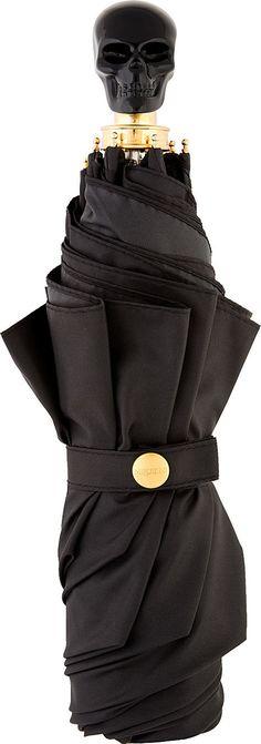 Alexander McQueen - Black Onyx Skull Umbrella