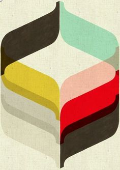 minmal retro stripes- black, yellow, red, rose, lightblue, grey, white