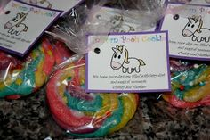 Unicorn Poop Cookies- for the Minion party