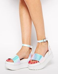 ASOS, Hangtime flatform sandals, $50, available at ASOS