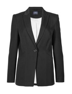 This fitted blazer is both versatile and stylish .