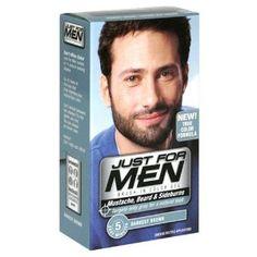 Just for Men Brush-In Color Gel for Mustache & Beard, Dark Brown M ...