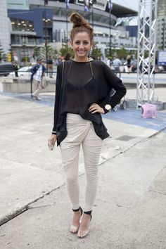 Street style seen at L'Oreal Melbourne Fashion Festival