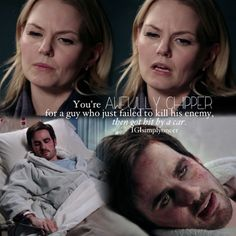Captain Swan. Hehe love this scene. His face = priceless