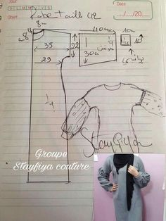 Abaya for mama saraDiscover thousands of images about Abaya ctieshasha Easy Sewing Patterns, Sewing Tutorials, Dress Patterns, Sewing Tips, Abaya Pattern, Recycle Old Clothes, Sewing Blouses, Sewing Lessons, Couture Sewing