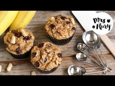Chunky Monkey Muffins | Gesunde Bananen Muffins | Mrs Flury - Recipes. Lovely, Easy & with a healthy touch