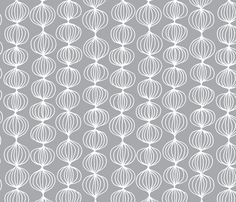 mod ogee - grey fabric by kristinnohe on Spoonflower - custom fabric