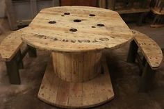 Unique reclaimed cable reel table rustic shabby chic | eBay