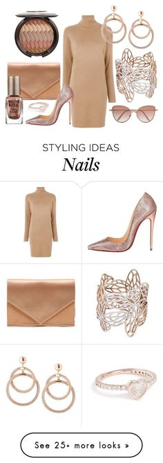 """Molten Metal"" by cindiawb on Polyvore featuring MICHAEL Michael Kors, Micoli, Anyallerie, Christian Louboutin, Barry M, Shay and Cutler and Gross"