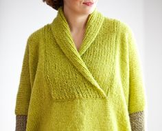 Plus Size Hand Knitted Sweater  Poncho  Tunic  Dress by by afra, $104.00