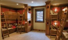 Sleeps 8. Doesn't need to be this fancy. [Gabriel] Lakeside Retreat Bunks