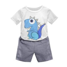5d658dfbabb Great 2 piece set for any dino loving little boy! Cute Baby Boy Outfits
