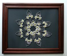 Wall Decor  Paper Quilling snowflake golden by PrettyWomanStore, $25.00