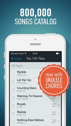 Top iPhone Game #23: Ultimate Guitar Tabs - largest catalog of songs with guitar and ukulele chords, tabs and lyrics - Ultimate Guitar by Ultimate Guitar - 05/19/2014
