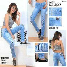"""""Ripped jeans RIJ 55027 Material: soft jeans Harga: 135 Size: 27-30 Order PIN CS1-5A1F32FA PIN CS2-5FI5DE72 & SMS/WA 087722-575-101  Reseller & Dropship Welcome!  Happy Shopping! :) #jamtangan #jamtanganwanita #jammurah #grosirjam #sweatercouple #flatshoes #jamtanganterbaru #resellerjamtangan #taswanita #sneakerscwe #celanajeansripped #jamtanganartis #olshop #wedgesterbaru #jaketjeans  #resellerwelcome #celanajeans #sepatubandung #celanajeanshw"