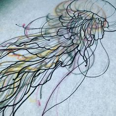 Cool project for saturday #jellyfish #drawing #dessin #sketch #meduse #tattoo #toulouse #mojitotattoo (à Mojito Tattoo)