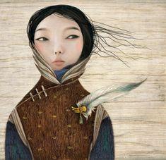 Illustrations for children of Inna Kapustenko on Illustration Served Art And Illustration, Illustrations Posters, Illustration Children, Alberto Giacometti, Wow Art, Tempera, Asian Art, Amazing Art, Awesome