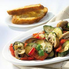 Gegrilltes Gemüse mit Röstbrot Rezept | Weight Watchers Fodmap, Barbecue, Toast, Chicken, Breakfast, Healthy, Health, Food And Drinks, Vegetables In The Oven
