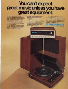 vintage electronics ads | 1974 Pioneer Stereo System magazine Ad | Old Magazine Ads