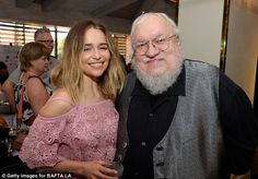 Man with the plan: She posed for a picture with Game of Thrones creator George…