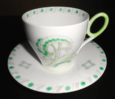 Very Unusual Early Shelley Art Deco Cup and Saucer