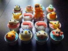 Again, for the little boys in my life :)  Pokemon Cupcakes