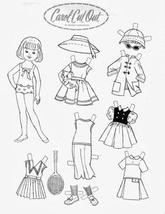 Paper Doll Template  Colored Shirley Temple Dolls  BlackWhite