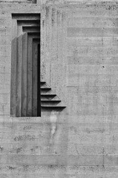 Carlo Scarpa: Tomba Brion Cemetery near Traviso, San Vito d'Altivole, Italy. Concrete Architecture, Gothic Architecture, Interior Architecture, Stairs Architecture, Installation Architecture, Minimal Architecture, Landscape Architecture, Landscape Design, Carlo Scarpa